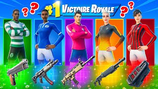 SKIN CLUB FOOT ALÉATOIRE CHALLENGE ! Défi FORTNITE Battle Royale