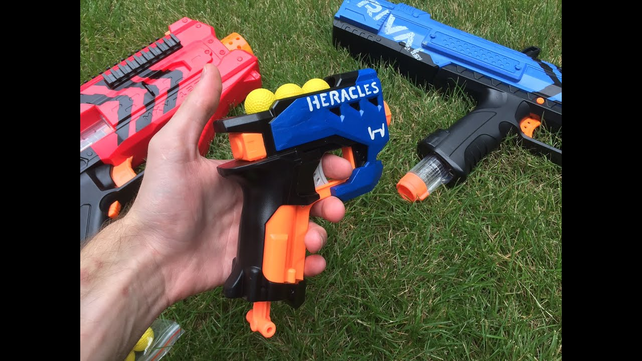 Nerf Mod The Rival Heracles First Nerf Rival Pistol Sidearm