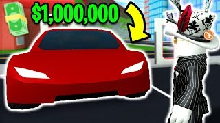 BUYING THE MOST EXPENSIVE CAR! *TESLA ROADSTER* | 1 MILLION CASH | Roblox Mad City