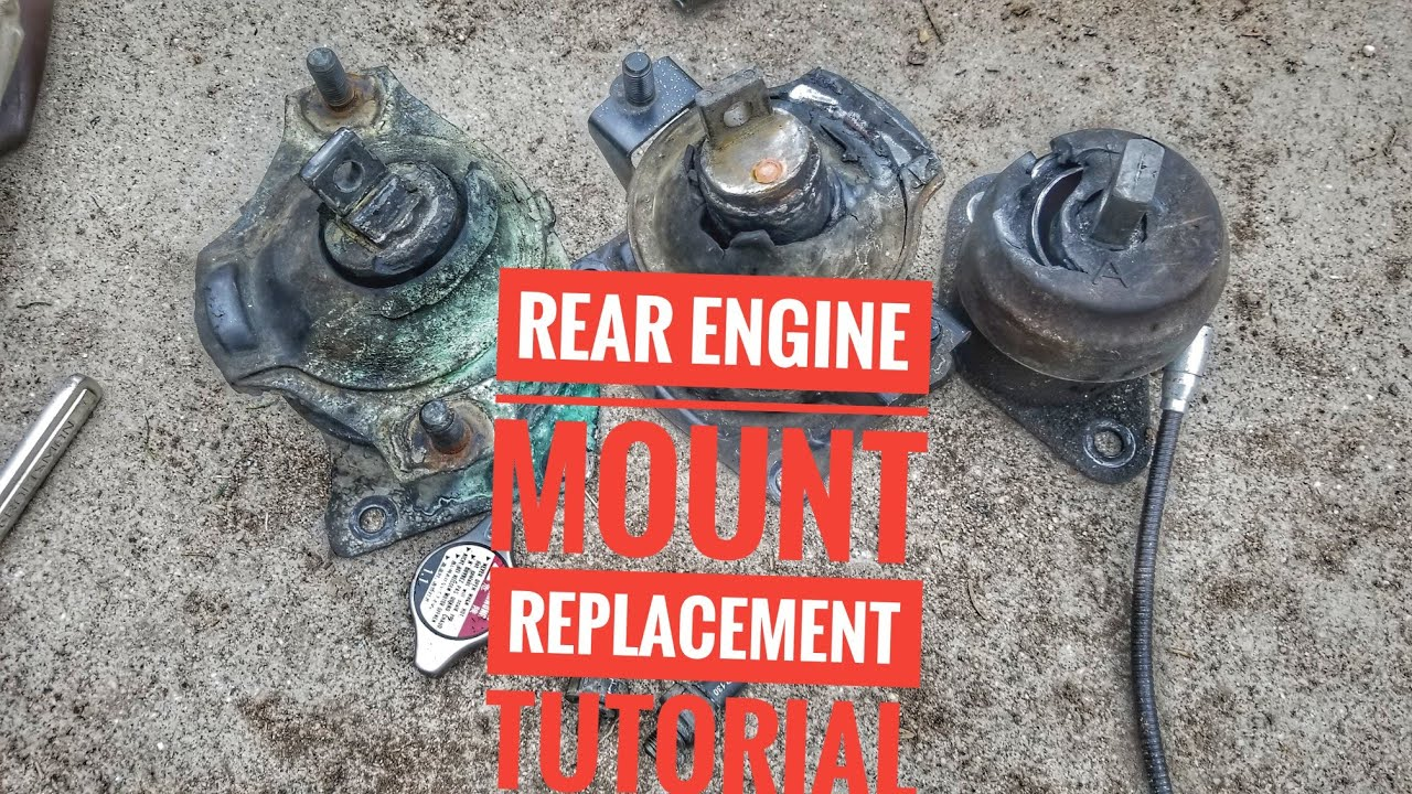 hight resolution of how to replace rear engine motor mount replacement tutorial