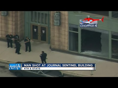 Window washer shot, wounded outside Milwaukee Journal Sentinel building