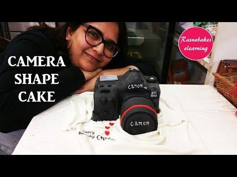 Camera Shape Cake:Cake Decorating Tutorial