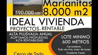TERRENO 8000 M2 IDEAL PROYECTO DE VIVIENDA CASE MEDIA POPULAR SECTOR MARIANITAS CALDERON