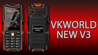 VkWorld Stone NEW V3 - один из лучших кнопочных защищённых телефонов на 3 сим-карты.