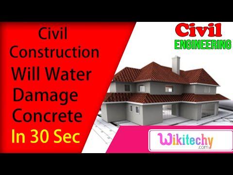 Will water damage concrete | Civil Construction Interview Questions | Civil Interview Questions