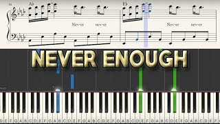 """Never Enough"" - Piano Tutorial + Sheet Music - The Greatest Showman 