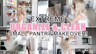 ORGANIZE + DECLUTTER WITH ME! / SMALL KITCHEN PANTRY MAKEOVER! + RECIPES! / Caitlyn Neier