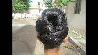 Latest Twisted Bun& new year Hairstyle 2017#Wedding hairstyle for long hair#prom braided hairstyle