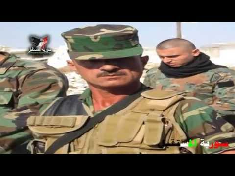 Colonel Suhail al-Hassan tours Morek north of Hama after the Syrian army regained control over it