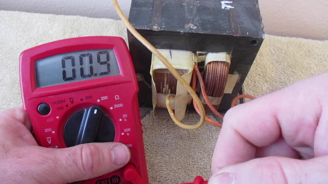 how to test microwave transformer multimeter testing primary secondary oven hv [ 1280 x 720 Pixel ]