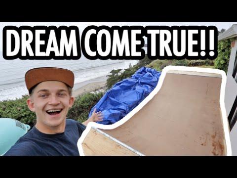 BUILDING THE HALF PIPE OF MY DREAMS!!