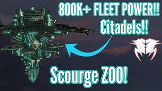 Stellaris | Tech RUSHING - 800k+ Citadels! & Making Scourge ZOO! Full Playthrough!!