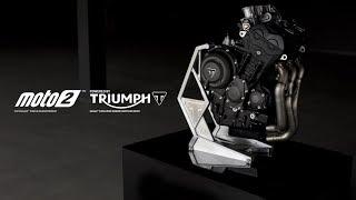 Introducing the Triumph Moto2 765cc triple engine