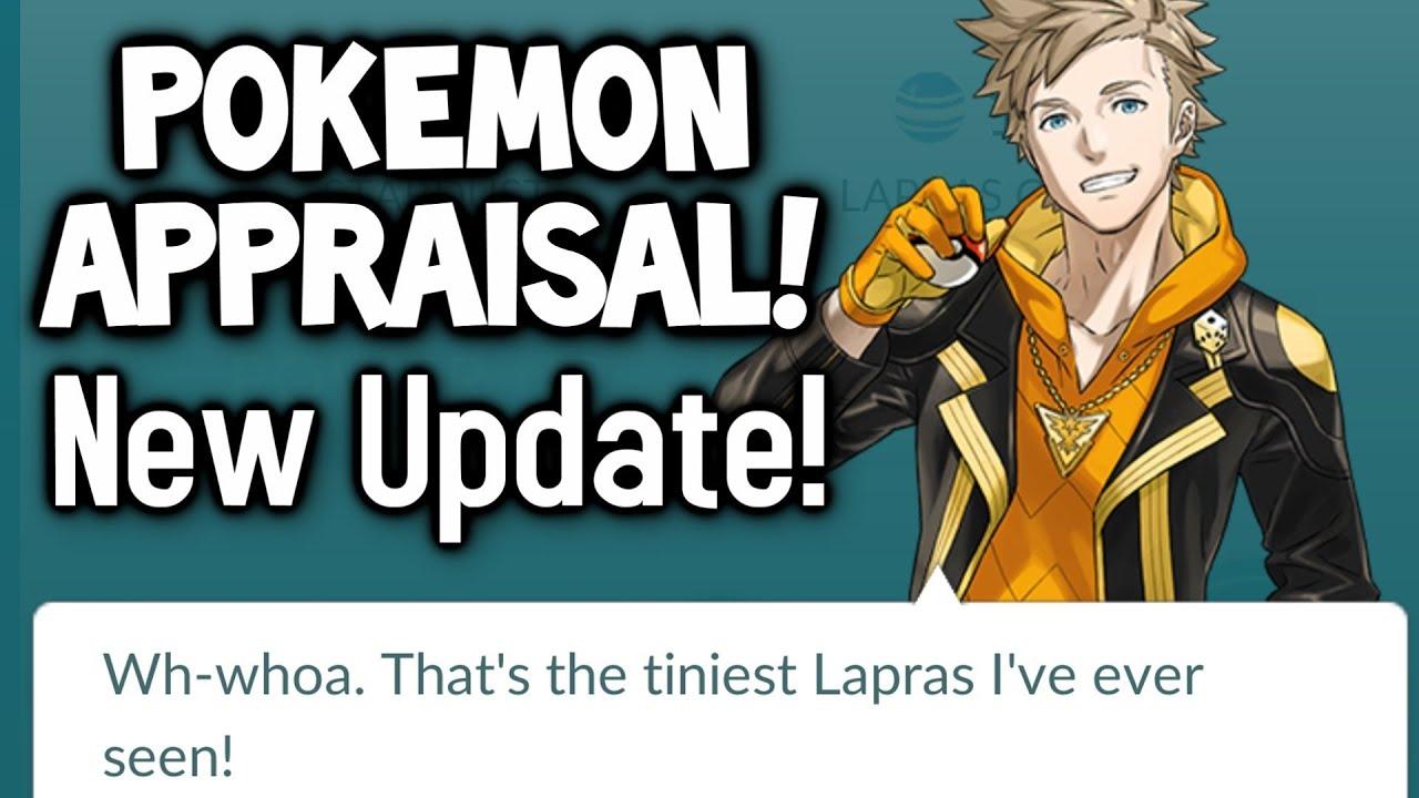 pokemon go update appraisal