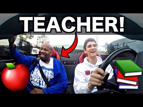 School Teacher Rides In My Lamborghini! Funny Reactions!
