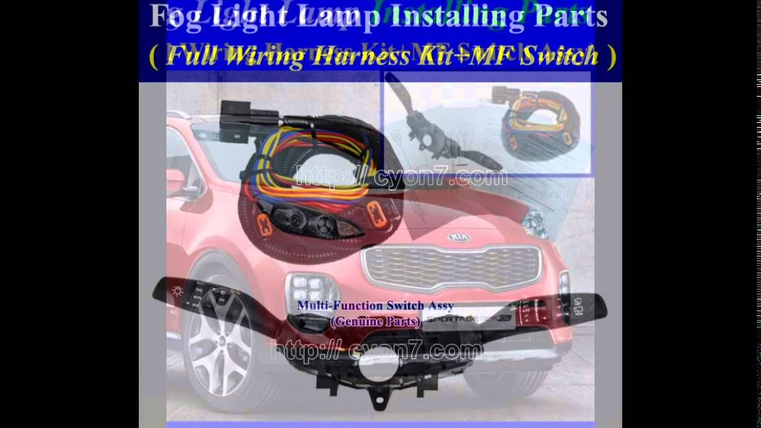fog light lamp installing parts full wiring harness kit for 2016 rh youtube com