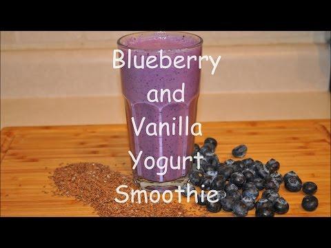 Blueberry And Vanilla Yogurt Smoothie / Weight Loss Smoothie