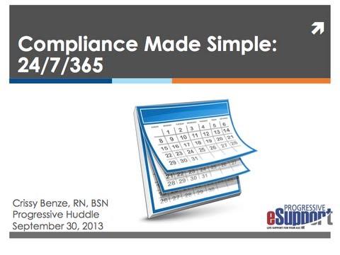 Progressive Huddle: Compliance Made Simple 24/7/365