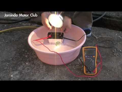 RCE -- 12V A123 Lithium Ion (LiFePO4) starterbattery - Waterproof test