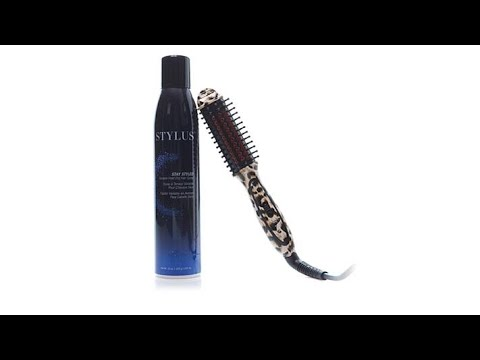 FHI Stylus Mini Leopard Thermal Styling Brush and Spray