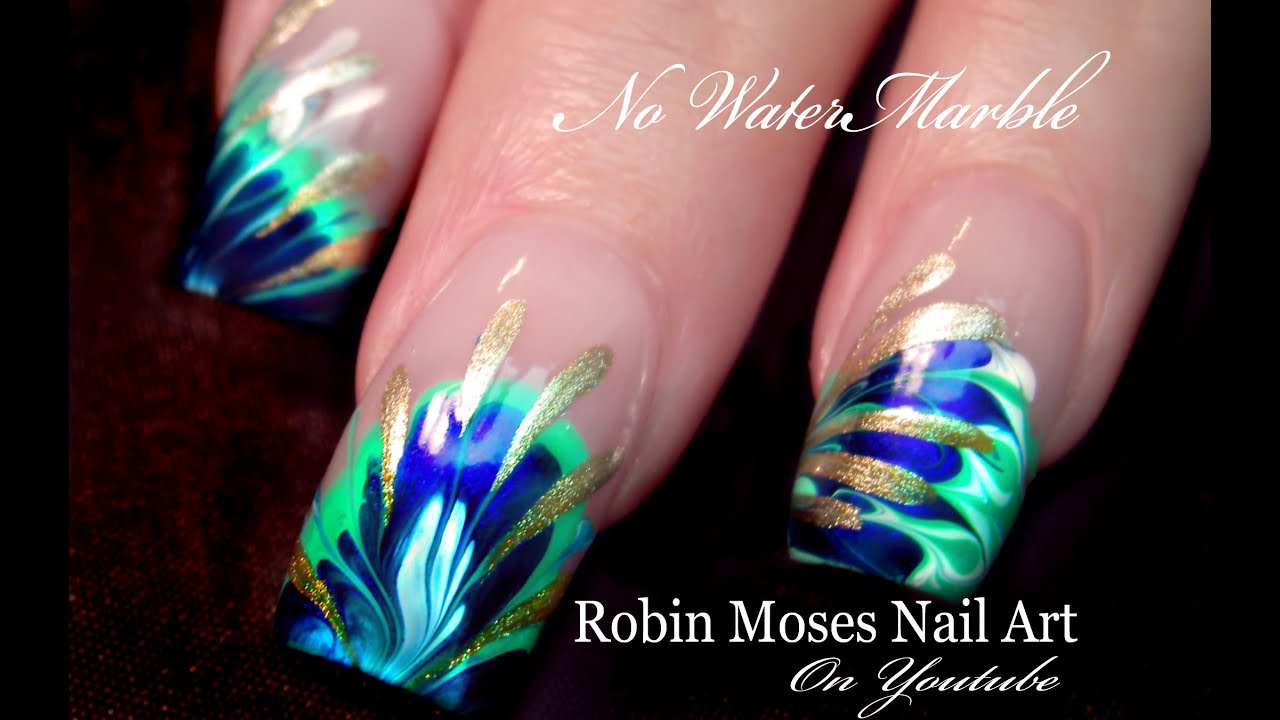 No Water Needed - 3 DIFFERENT Marble nail art Tutorials - YouTube