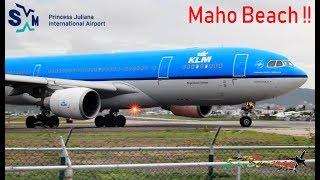 KLM A330-200 Clip departing St. Maarten Princess Juliana Int'l Airport