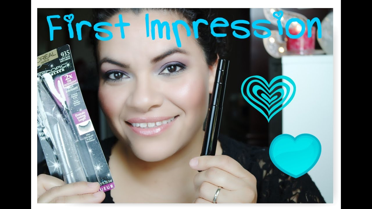 9071a6f8656 Loreal Telescopic Carbon Black First Impression - YouTube