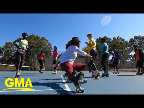 Skaters across the country celebrate National Roller Skating Month l GMA