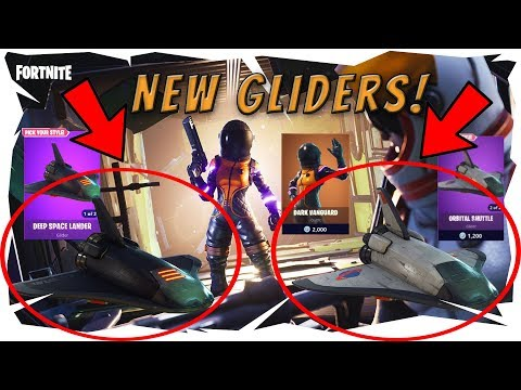 *New* Best Fortnite Glider! Deep Space Lander and Orbital Shuttle Gameplay! Top Streamer Reactions