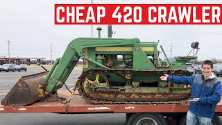 I BOUGHT The CHEAPEST John Deere 420C Crawler Tractor Winch Cable Snapped And I Almost DIED
