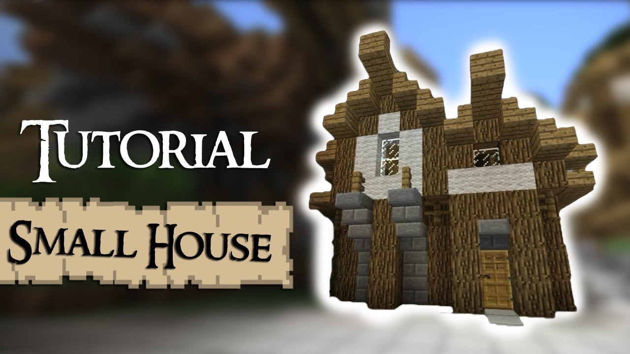 Minecraft Tutorial How to build a small medieval house