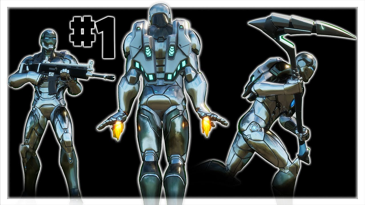 Silver Foil Tony Stark Iron Man Best Skin Combos In Fornite Season 4 Chapter 2 Youtube
