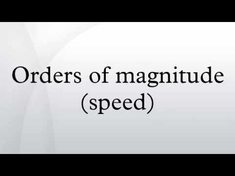Orders of magnitude (speed)