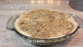 Raw Dessert - Date Squares, Banana Ice Cream & Caramel Sauce