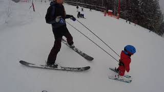 How To Teach Your Toddler / Kid To Ski  - Tips and Tricks with the Treadway