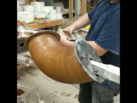 """Adding Structural Fiberglass Roving to the Elbow Mandrel to Fabricate a 6"""" Elbow"""