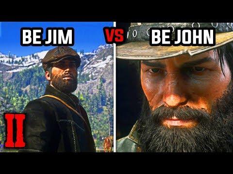 Jim Milton Blows His Cover (Be Jim Milton vs Be John Marston) - Red Dead Redemption 2