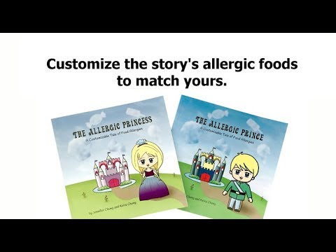 Kid's Food Allergy books. The Allergic Princess + The Allergic Prince