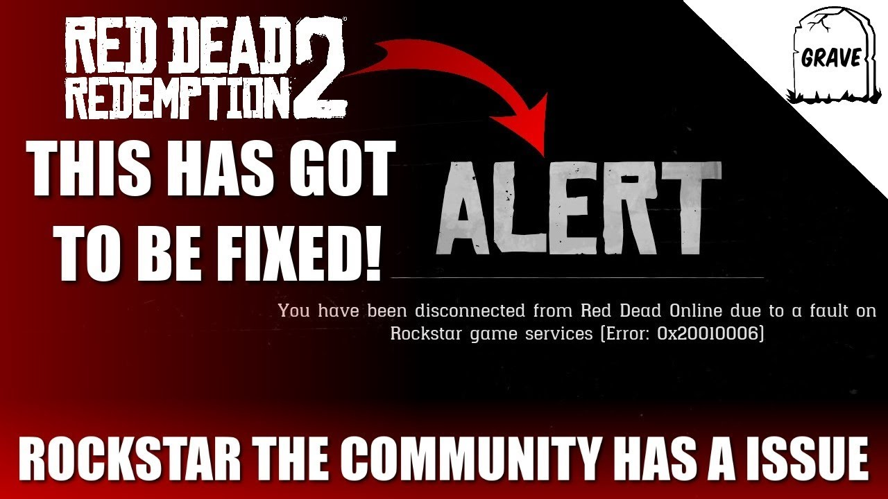 Red Dead Online Connection Error  We need A fix! | Error 0x20010006