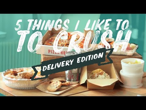 5 Things I Love To CRUSH | Delivery Edition | Pizza | Mexican | Portuguese Chicken | Fidel Gastro