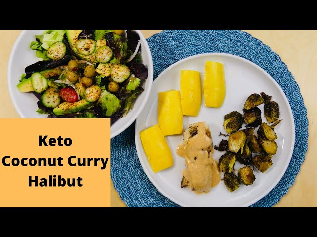 Keto Coconut Curry Halibut