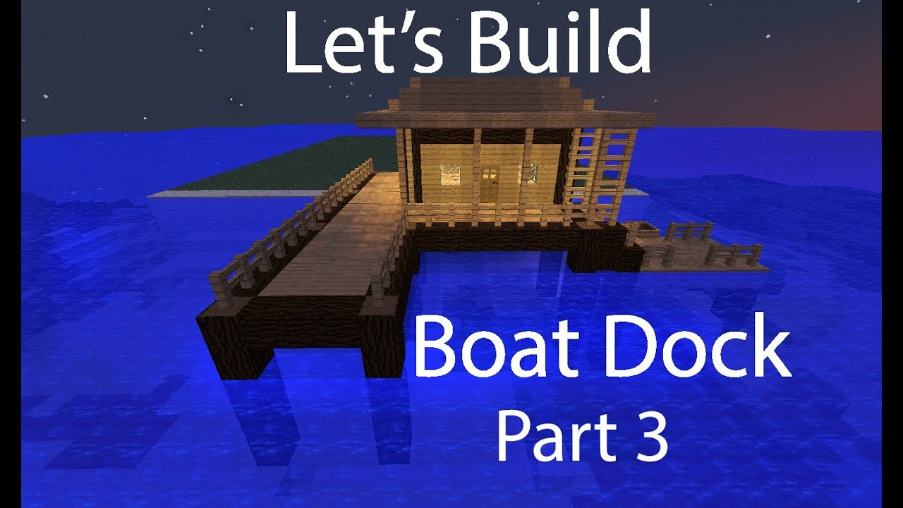 how to make a boat dock in minecraft pe
