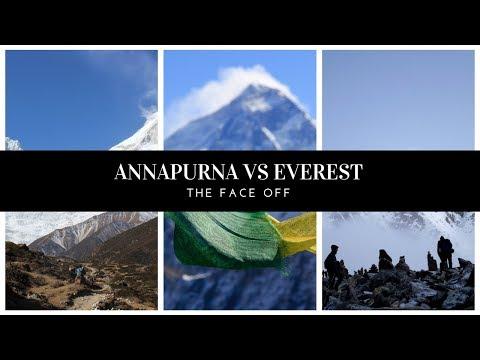 The Face-Off! Annapurna circuit trek Vs Everest 3 passes Trek Video-2019