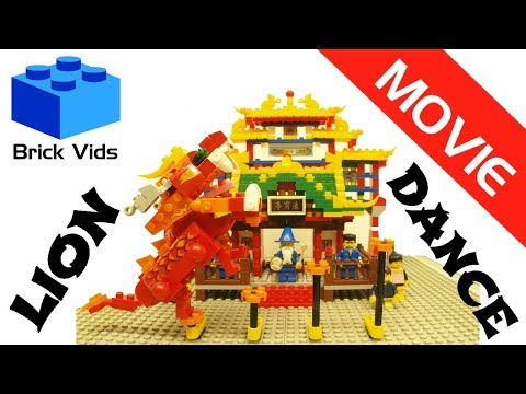 Lego Lion Dance - Lego Dragon Dance - Asian Chinese Toy Dance 2017