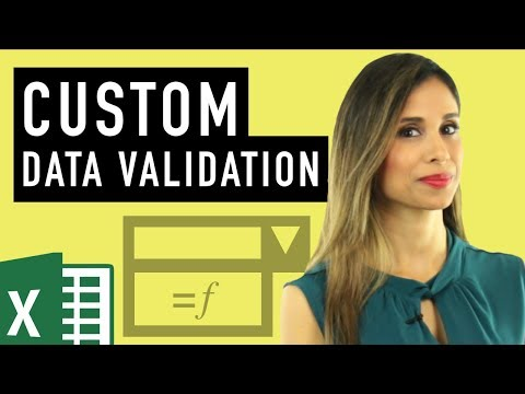 Excel Custom Data Validation (Use Formulas To Check For Text, Numbers & Length)