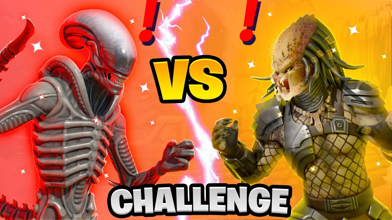 Fortnite Alien vs Predator Boss Challenge