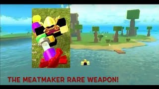 Roblox Booga Booga PvP & Epic Rare Weapons MUST SEE!!! Meeting the Meatmaker