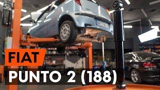 Kā un kad mainīt aizmugurē Amortizators FIAT PUNTO (188): video pamācības