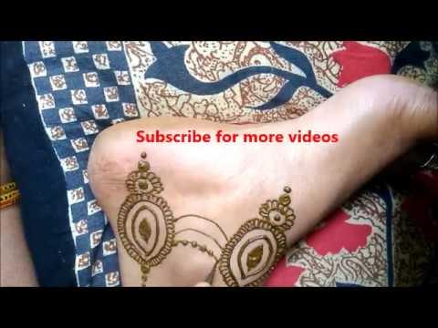 Simple Easy Hinna Mehendi Designs For Feet Step By Step Tutorials