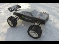 E - Revo - Pontiac body with paddles on the snow.